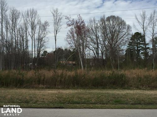 Lucama Wooded Industrial Zoned Lot : Lucama : Wilson County : North Carolina