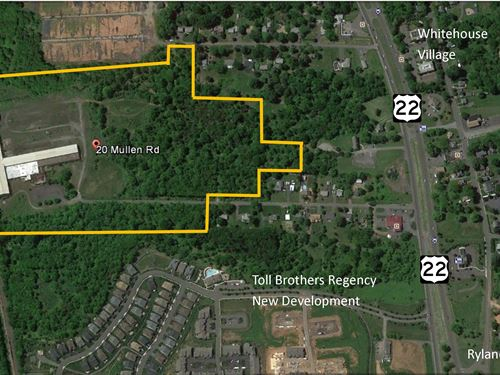43.94+/- Acre Development Site : Whitehouse Station : Hunterdon County : New Jersey