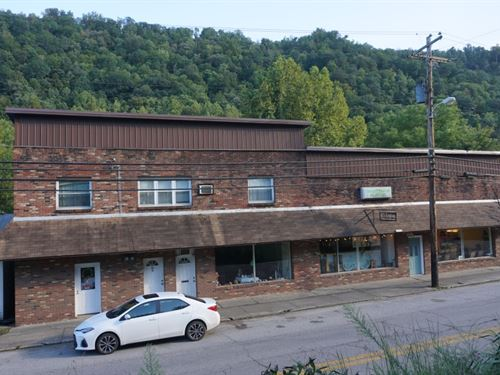 Large Brick Building With New Roof : Clay : West Virginia