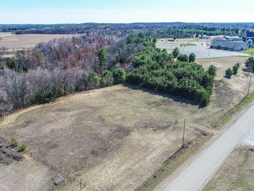 Commercial Land For Sale Central WI : Waupaca : Wisconsin