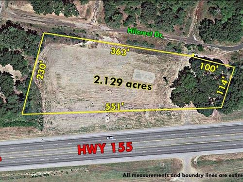 Commercial Land Water View Lake : Flint : Smith County : Texas