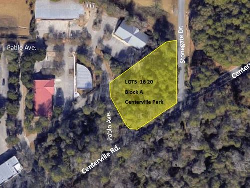 Pablo Ave, Lots 16-20, Block A : Tallahassee : Leon County : Florida