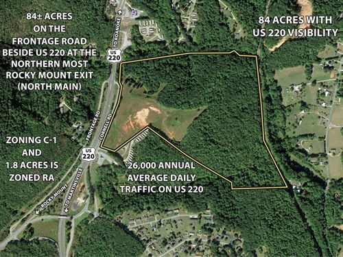 Perfect Commercial Land : Rocky Mount : Franklin County : Virginia