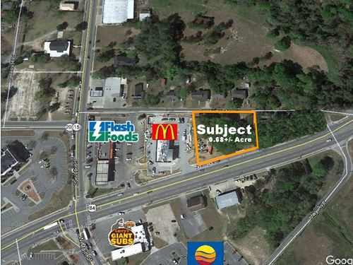 Commercial Parcel On Highway 84 : Blackshear : Pierce County : Georgia