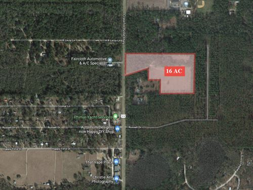 16+ Acres Development Potential : Crawfordville : Wakulla County : Florida