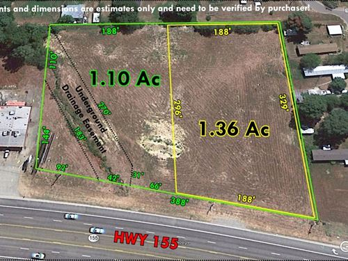 Level Commercial Lots Highway : Flint : Smith County : Texas