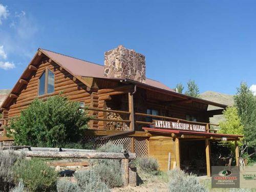 Custom Swedish Cope Log Commercial : Dubois : Fremont County : Wyoming