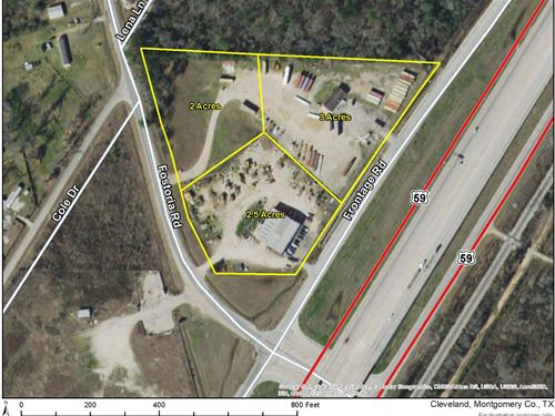 3 Acres Commercial Corner : Cleveland : Montgomery County : Texas