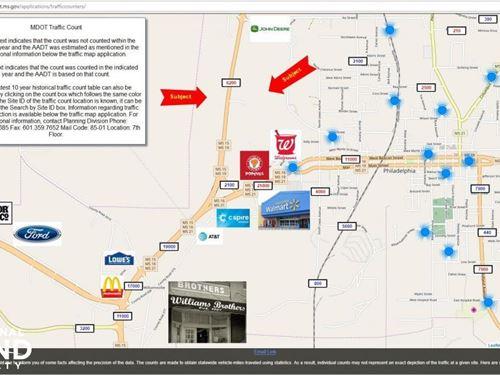 High Traffic Commercial Property on : Philadelphia : Neshoba County : Mississippi