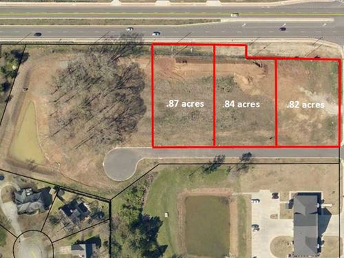 3 Commercial Lots On Hwy 96 : Bonaire : Houston County : Georgia