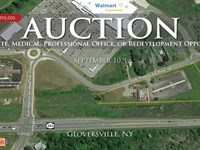 Retail Site Or Redev Opportunity : Gloversville : Fulton County : New York