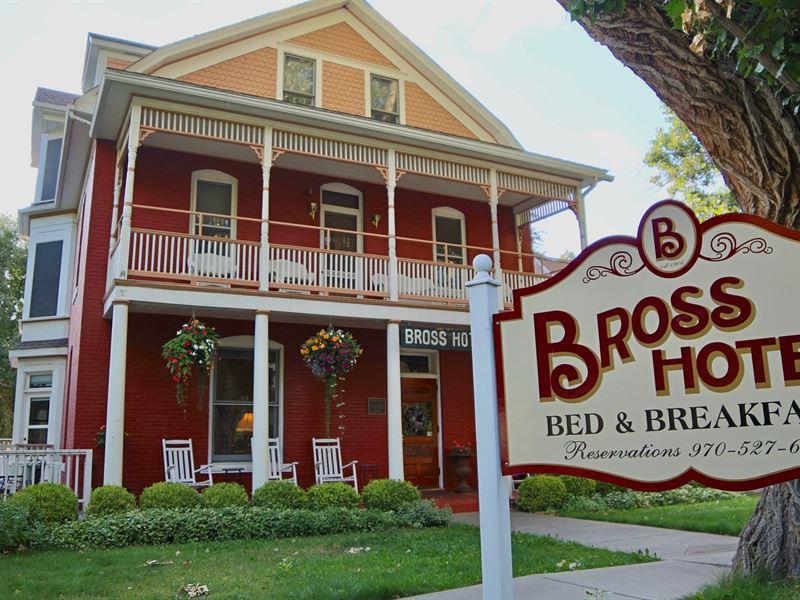 Historic Colorado Bross Hotel : Paonia : Delta County : Colorado
