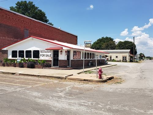 Commercial Building Downtown Fort : Fort Cobb : Caddo County : Oklahoma