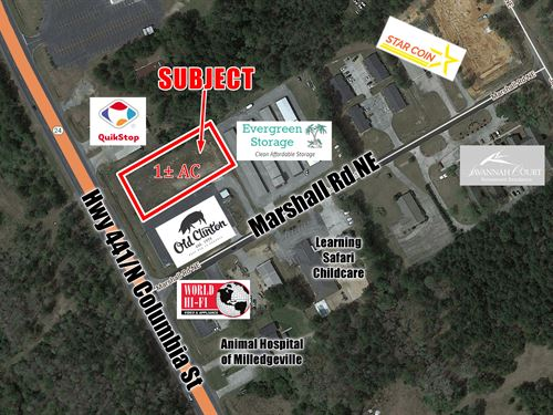 1 Commercial Acre, Milledgeville : Macon : Baldwin County : Georgia