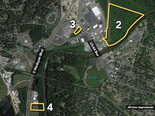 Tract 2, 37.23Ac In Downtown : Rocky Mount : Nash County : North Carolina