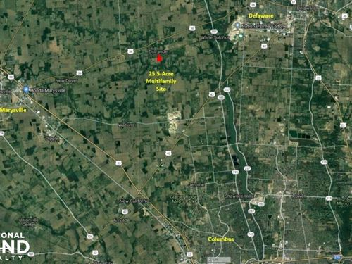 25 Acres of Zoned Multifamily Land : Ostrander : Delaware County : Ohio