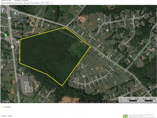 25.70 Acres : Wellford : Spartanburg County : South Carolina