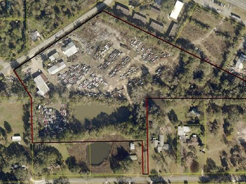 Automotive Salvage Yard Property : Live Oak : Suwannee County : Florida