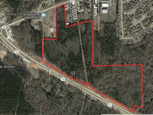 70 Acres Commercially Zoned : Florence : Rankin County : Mississippi