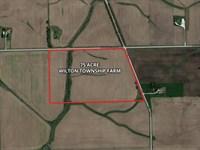 75 Acre Wilton Township Farm : Peotone : Will County : Illinois