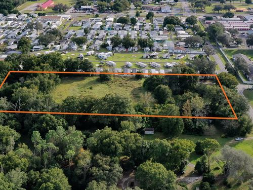 4.92 Acres For Residential Dev : Zephyrhills : Pasco County : Florida
