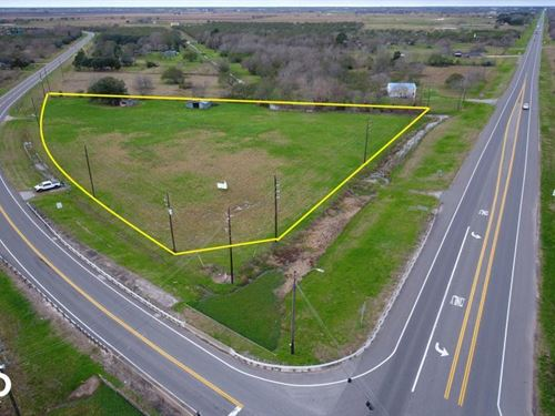 3 Acre Intersection Corner, CO : Orchard : Fort Bend County : Texas