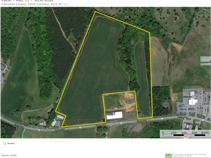 40.50 Acres, Great Development : Gaffney : Cherokee County : South Carolina