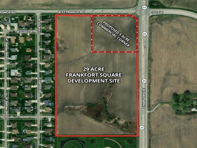 29 Acres Frankfort Sq Development : Frankfort : Will County : Illinois