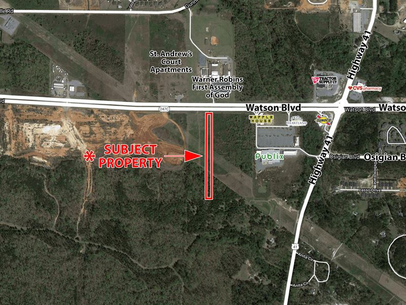Commercial Lot for Sale : Byron : Houston County : Georgia