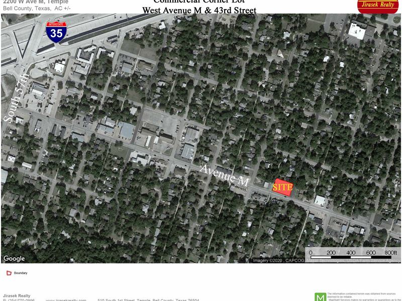 W Ave M Commercial Lot : Temple : Bell County : Texas