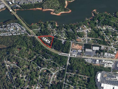 3.1 Ac. Gateway Parcel On Hwy. 76 : Anderson : South Carolina
