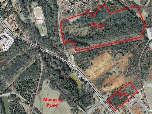 34 Ac. Creekfront Near Clemson Blvd : Pendleton : Anderson County : South Carolina