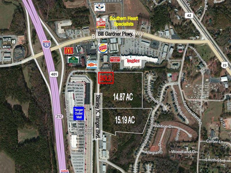Retail Development Site : Locust Grove : Henry County : Georgia