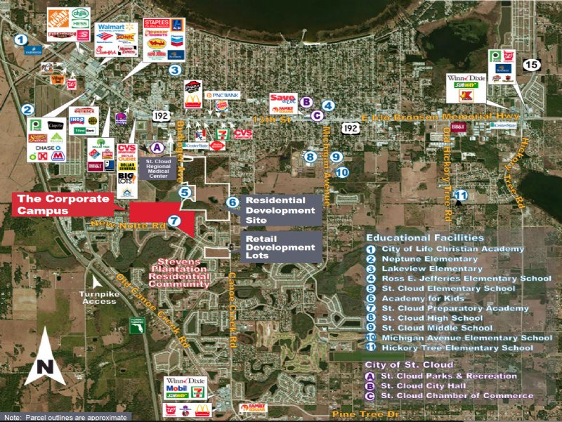 10 Pad-ready Retail/office Sites : Saint Cloud : Osceola County : Florida