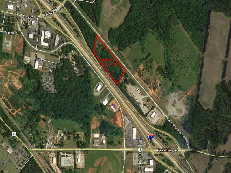 Reduced Industrial Site Along I-75 : Forsyth : Monroe County : Georgia
