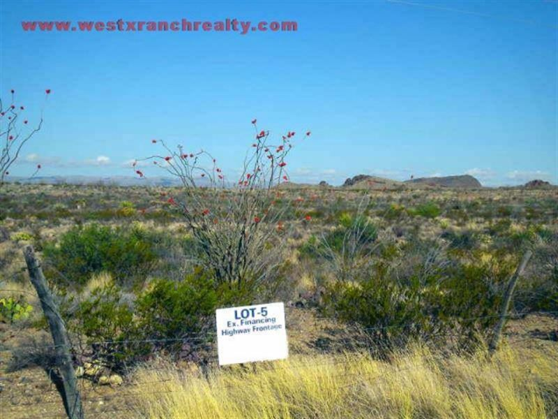 Ocotillo Mesa Lots : Study Butte : Brewster County : Texas